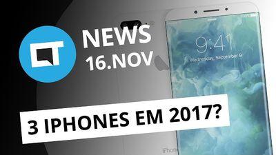 Três novos iPhones em 2017; Vendas de smartphones no Brasil voltam a crescer e +