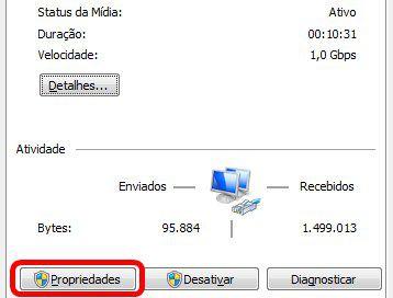 Staus de Rede Windows 7