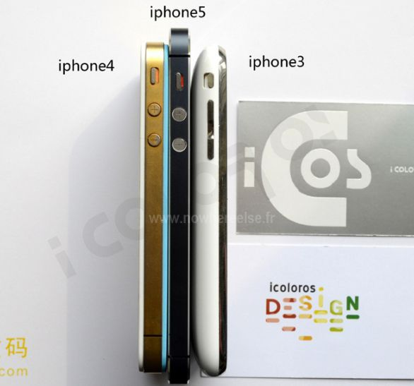 Comparativo lateral iPhone 5/4S/3GS
