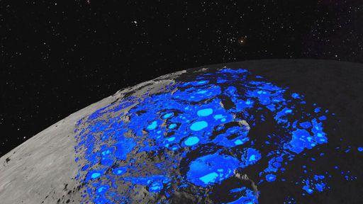 Agência Espacial Europeia cria mapa mostrando onde existe gelo escondido na Lua