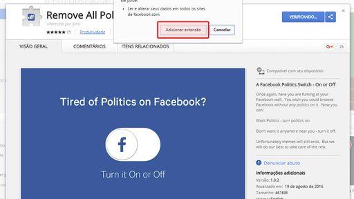 Cansado de política no Facebook? Veja como acabar com isso