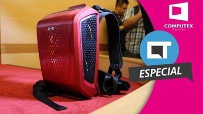 MSI Backpack PC: um PC gamer/VR em formato de mochila! [Hands-on | Computex 2016