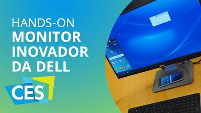Monitor da Dell carrega e exibe tela do seu smartphone [Hands-on | CES 2016]