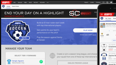 ESPN lança seu próprio fantasy game de futebol com as principais ligas do mundo