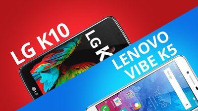 LG K10 vs Lenovo K5 [Comparativo]
