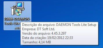 Instalador do Daemon Tools Lite