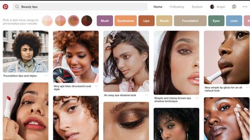 Pinterest cria filtro que permite buscar por fotos de determinados tons de pele