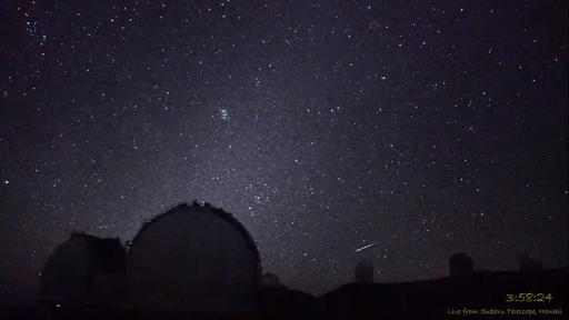 Câmera de telescópio no Havaí flagra raro aglomerado de meteoros; veja o vídeo!