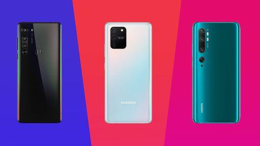 Motorola Edge vs. Galaxy S10 Lite vs. Mi Note 10: quais as diferenças?
