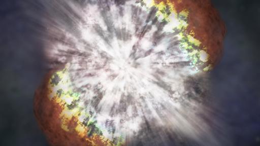 Momentos iniciais de uma supernova são registrados pela primeira vez