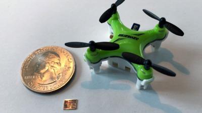 MIT cria chip do tamanho de uma unha para drone pequeno como uma moeda