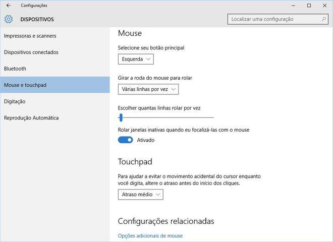Configurações Windows 10
