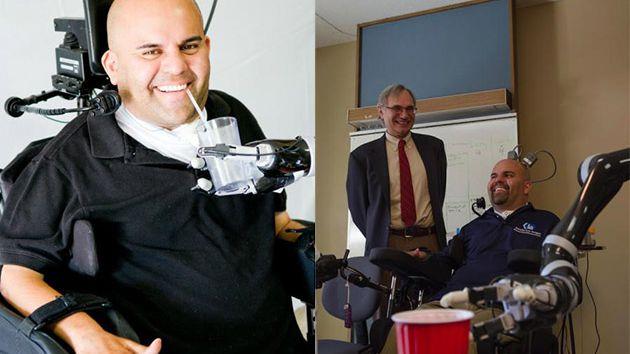 Implante cerebral faz paciente com paralisia mover braço robótico com a mente
