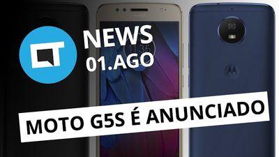 Moto G5S é anunciado oficialmente;Galaxy Note 8 vaza;Asteroide no BR e+[CT News]