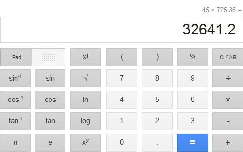 Calculadora Google Search
