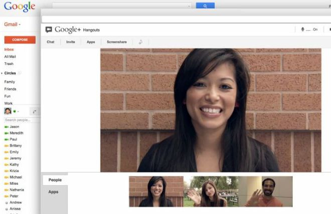 Hangouts Gmail