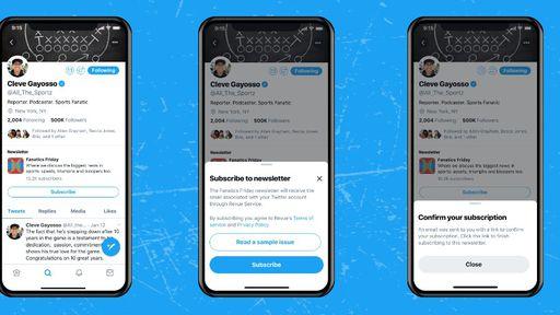 Twitter começa a exibir botões de inscrição em newsletters - Canaltech