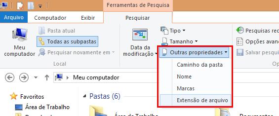 A ferramenta de pesquisa do Windows possui outros recursos que podem refinar a busca e torná-la mais granular e eficiente que o normal