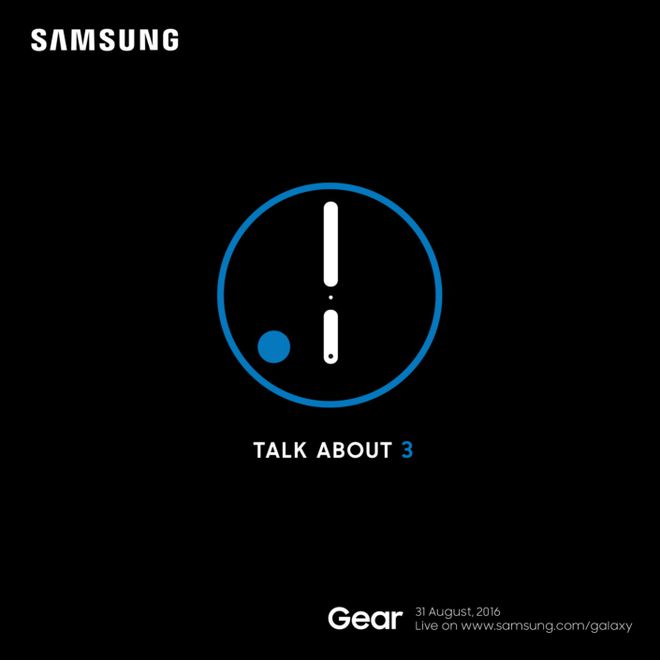 Convite Samsung Gear S3