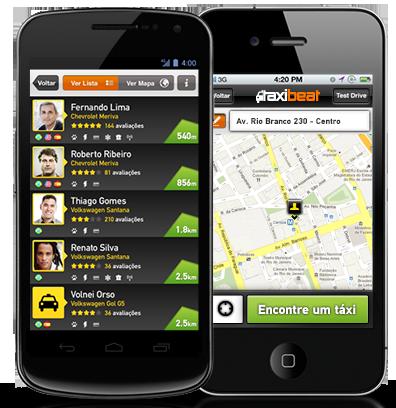 TaxiBeat smartphones