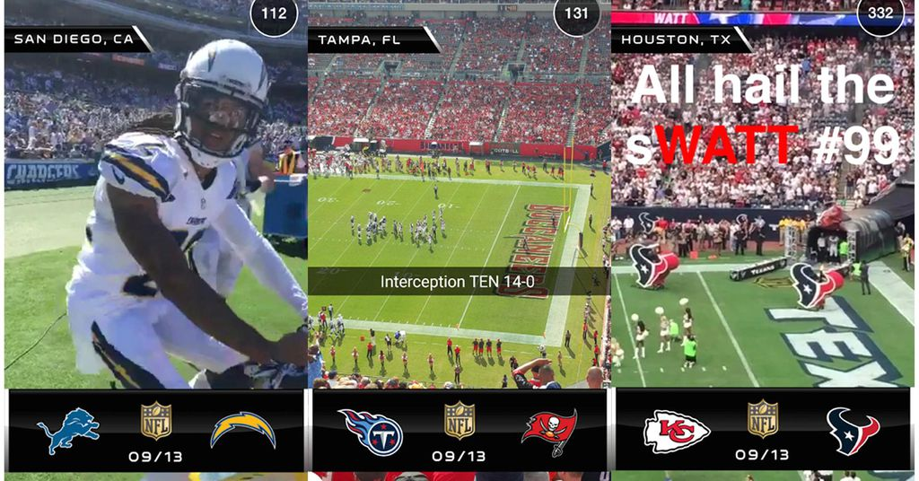 Snapchat e NFL