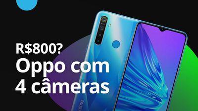 Celular da Oppo tem 4 câmeras e custa R$800 na China [CT News]