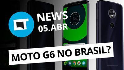 Moto G6 pode ser anunciado no Brasil; Versão web do Uber; Pixel 3? e + [CT News]