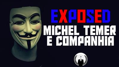 Anonymous invade site pessoal de Michel Temer; página está fora do ar