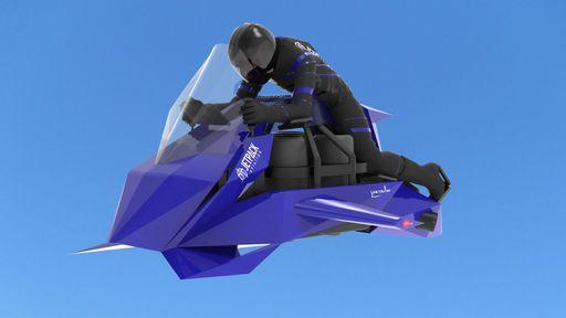 Protótipo de moto voadora faz sua primeira decolagem; veja como foi