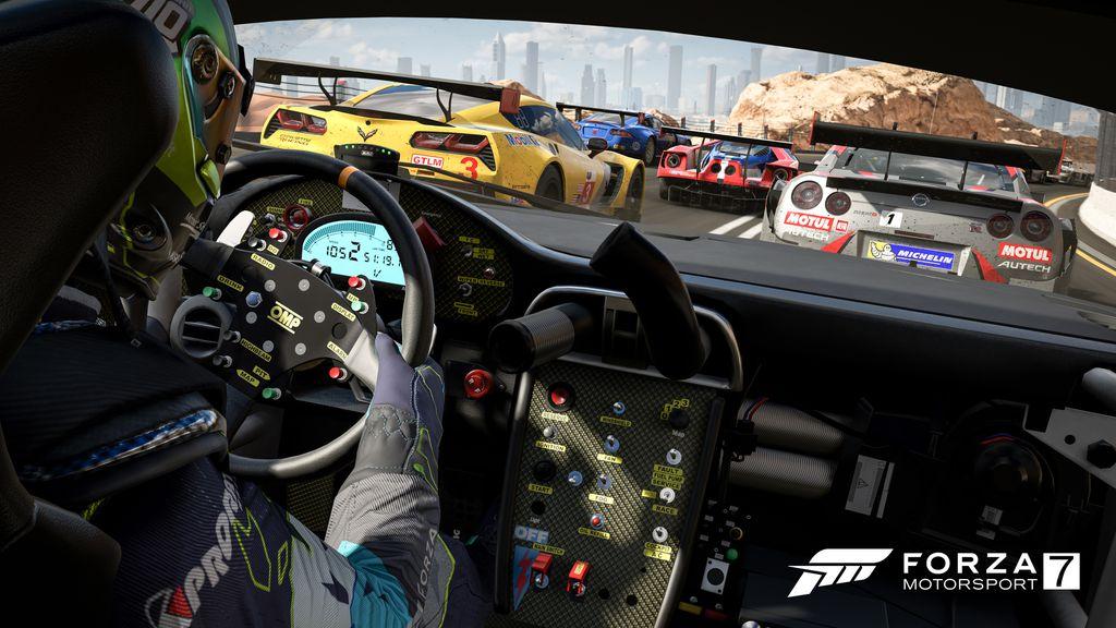 Um dos grandes trunfos de Forza 7 é sua acessibilidade, podendo ser jogado tanto por quem está aprendendo a pegar num joystick quanto por aqueles que têm volante e pedais em casa