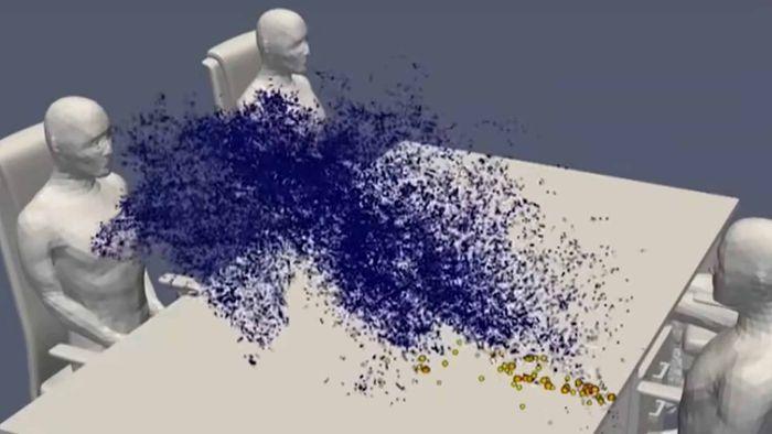 Supercomputador mostra como o coronavírus se espalha em mesa de restaurante - Canaltech
