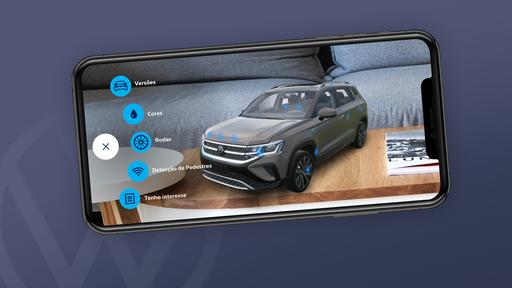 Aplicativo usa realidade aumentada para levar você até o novo Volkswagen Taos