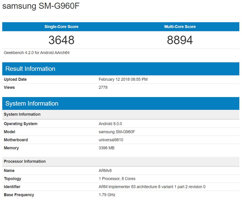 Teste de benchmark mostra todo o poder de fogo do Galaxy S9 equipado com SoC Exynos 9810