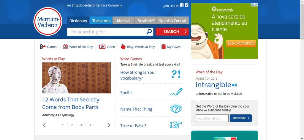 Dicionários de inglês online