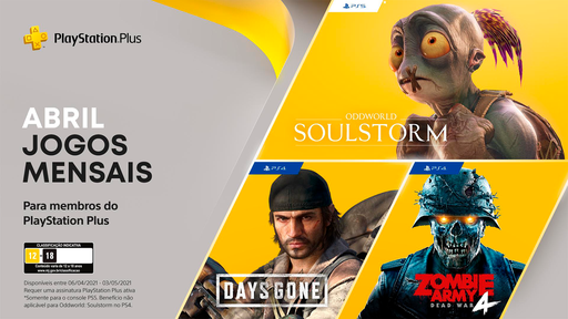 3 jogos grátis na PlayStation Plus em Abril: com destaque para Days Gone