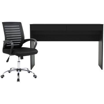 Escrivaninha 2 Gavetas - Politorno + Cadeira de Escritório Giratória