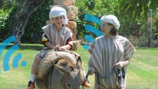Burros oferecem Internet WiFi em um parque de Israel