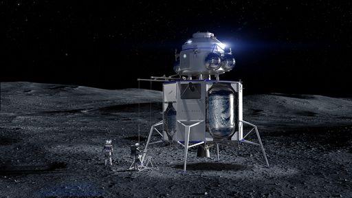 Blue Origin processa NASA por contrato de lander lunar com a SpaceX
