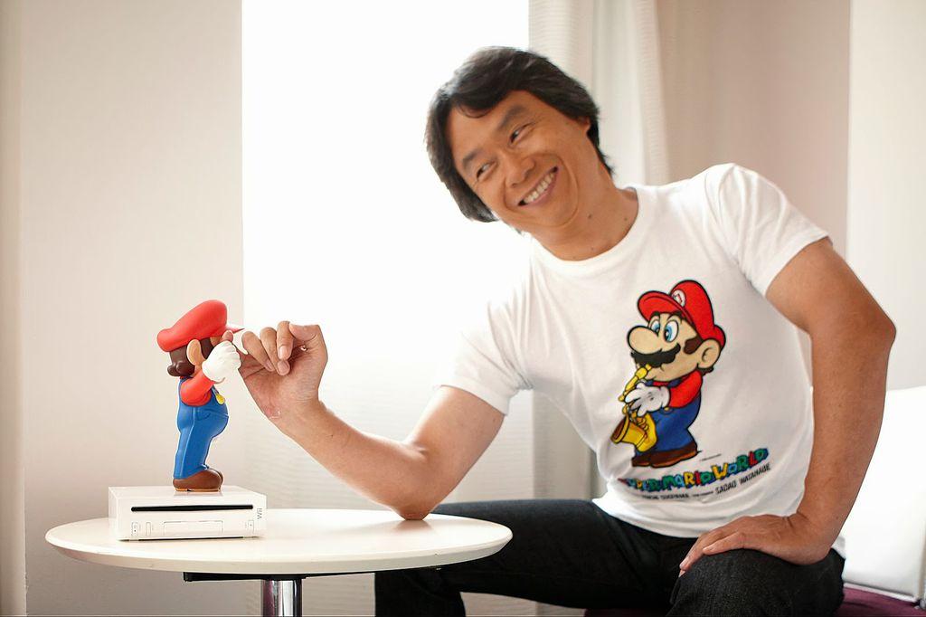 Shigeru Miyamoto e Mario