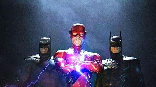 Fã reúne Ben Affleck e Michael Keaton em arte com Batman e Flash
