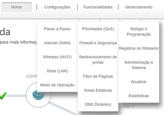 Quem quer acessar configurações mais avançadas (mas nem tanto assim), tem de obrigatoriamente recorrer ao navegador