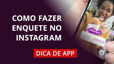 Como fazer enquete no Instagram Stories #DicaDeApp