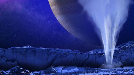 Encontradas mais evidências de que superfície da lua Europa libera jatos de água