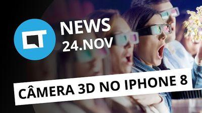 iPhone 8 com sistema de câmeras 3D da Apple e LG; Preço do Nintendo Switch e + [CTNews]