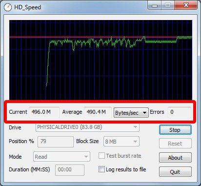 Teste de leitura - HD_Speed