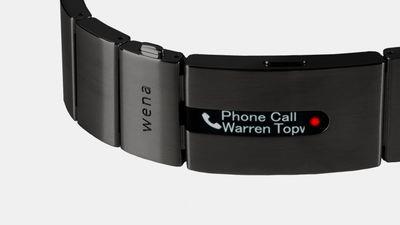 Pulseira Wena, da Sony, transforma relógios comuns em smartwatches