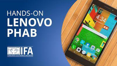 É um tablet? É um smartphone? Não, é o Lenovo PHAB! [Hands-on   IFA 2015]