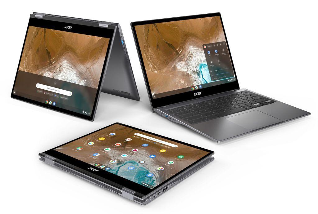 Chromebook Spin 713 tem construção em alumínio e design diferenciado orientado pelo aspecto da tela de 3:2