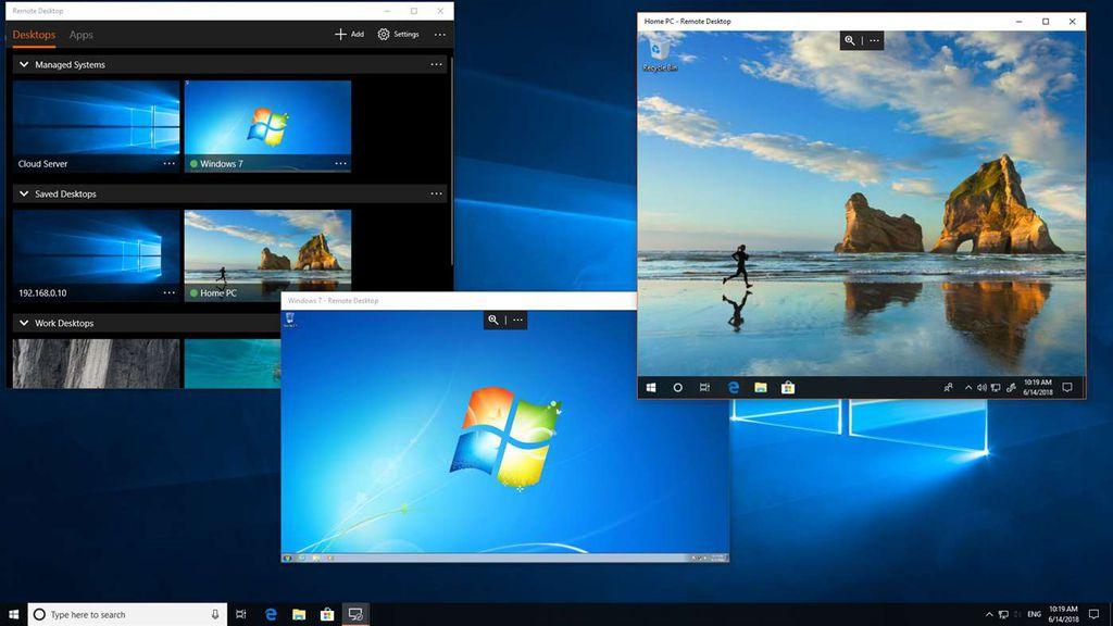 A Área de Trabalho Remota da Microsoft permite gerenciar múltiplas máquinas remotamente; porém é que seu uso é mais complicado que o normal