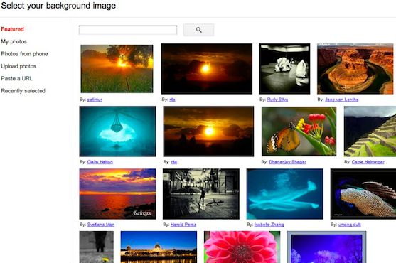 Fotos background Gmail